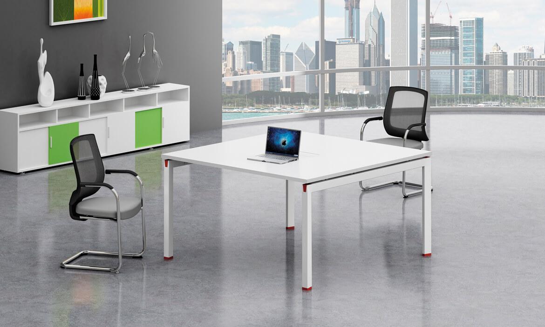 Tavolo da ufficio in legno bianco design moderno (HC-84A ...